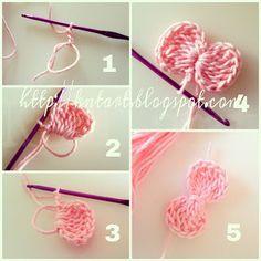 Easy crochet: Bows - Tutorial ❥ 4U / /hf