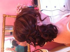 Meagan's romantic, soft, tousled side updo is perfect for her March wedding. bridesmaid hair, tousl updo