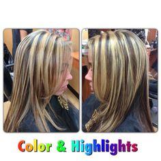 ♥ blonde highlights