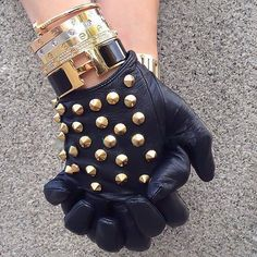 black and gold and everything about this!!!  I want each bracelet and the gloves!  :)