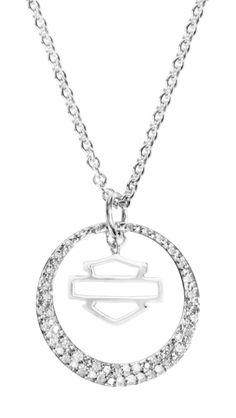 Harley-Davidson® Women's Circle Diamond Necklace HMN0002