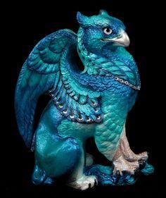 "WINDSTONE ""BLUE #1"" MALE GRIFFIN FIGURINE; FANTASY GRIFFON STATUE #ebay #fantasy #art"