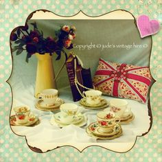 China and vintage props for hire
