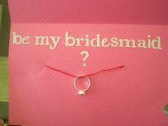 Cuuute! I'd definitely propose to all of my bridesmaids..