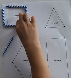build shapes with candles (printable)