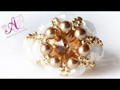 ▶ DIY Tutorial Modulo Aurum per orecchini e anello con perline - YouTube