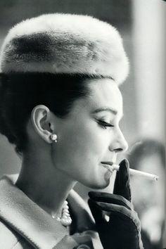 Audrey Hepburn. #audrey hepburn, #smoking