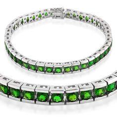 Liquidation Channel:  Russian Diopside Bracelet in Sterling Silver (Nickel Free)