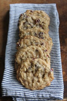 Oatmeal Cherry Chocolate Chunk Cookies   Brittany's Pantry - The best recipe for chewy, crispy cookies every time! #baked #cookies #chocolate #oatmeal #dessert