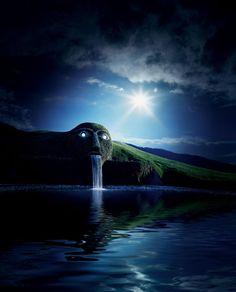 Swarovski mysterious Giant by night, Kristallwelten, Wattens, Austria