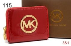Michael Kors Bag Of Wallets Square Patent Gold Hardware With Red