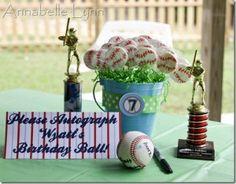 several cute baseball party ideas