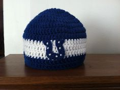 Newborn / Baby / Kid / Adult Indianapolis Colts Crocheted Football Team Hat on Etsy, $8.00