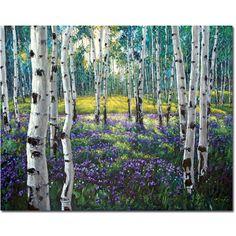Meadow of Amethyst - Aspen Paintings Birchtree Art by Jennifer Vranes JensArt