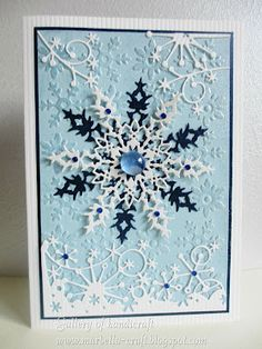 Gallery Of Handicrafts (blog) snowflake card