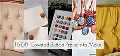 fabric covered button projects