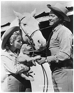 """Sky King (1951–1962)  TV Series  -  30 min  -  Western   Stars:  Kirby Grant, Gloria Winters and Ewing Mitchell   """"From out of the clear blue of the western sky comes Sky King"""" was the familiar opening to television's premier aviation program. Operating from his Flying Crown Ranch in Arizona, Sky King, his niece Penny and their Cessna 310 airplane """"Songbird"""" were constantly involved in one adventure after another. Viewed by many children in the 1950's"""