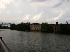 Bronx River on a stormy day