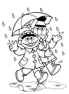 Sesame Street - Coloring Pages  bert and ernie.  80s kid