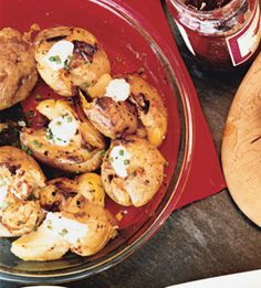 garlicsmash potato, potatoes, true recip, garlic smash, minc garlic, potato recipes, food photo, yummi side