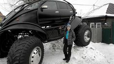 """a Russian guy designed this car using a 3D modeling software for the outer look and the suspension. Then he and his friends got a Nissan Maxima """"as a source for some parts"""" and built it."""
