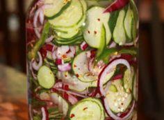 Refrigerator Cucumber Salad Recipe