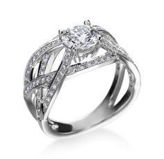 18K White Gold Diamond Ring by Hearts on Fire (Available at Michael C. Fina)