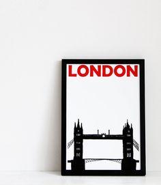 London  Print  8x11 A4 size by Pomalia on Etsy, $17.00