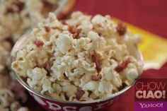 FABIO'S PANCETTA PARMESAN POPCORN!  Full Video: http://yhoo.it/16EBp3W Text Recipe:  http://yhoo.it/12AEfJw