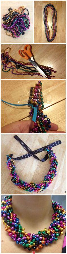 DIY Bead Necklace diy crafts craft ideas easy crafts diy ideas crafty easy diy diy jewelry craft necklace diy necklace jewelry diy