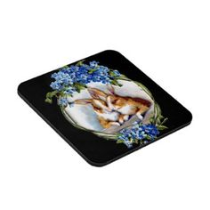 Decorative drink coaster sets with Easter images.
