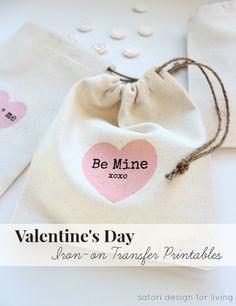 Valentine's Day Iron-on Transfer Printables- Satori Design for Living