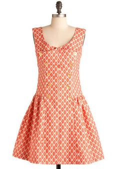 This dress was made to picnic in. Anthropology.