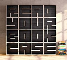Can you read the bookshelf?