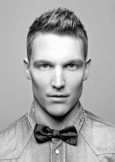 Bow tie on denim #men #urban #style