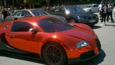 Chrome orange Bugatti Veyron
