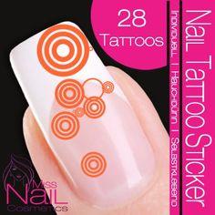 Nail Tattoo Sticker Circle / Dots - orange runneth orang, nail color, tattoo sticker, circl, orang confer, nail tattoo, dot
