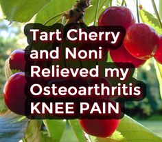 Tart Cherry and Noni Helped Relieve My Knee Pain from Osteoarthritis