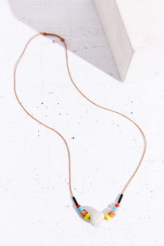 Kate Miss X Urban Renewal Lime Beaded Concrete Necklace - Urban Outfitters