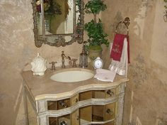 Powder Bath - traditional - powder room - other metro - Finishing Touches Interior Design