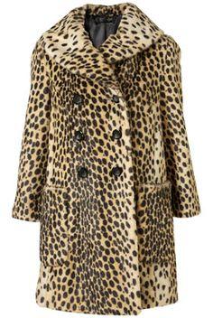 leopard vintage faux fur coat