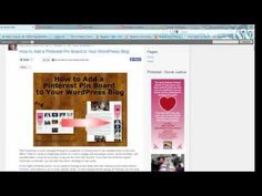 Pinterest VIDEO tutorial: How to Add a Pinterest Pin Board to Your WordPress Blog