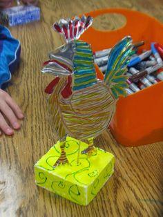 Art Julz: More Picasso Rooster Sculptures