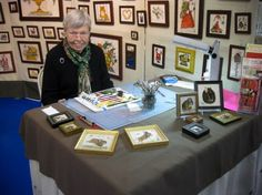 Joan E. Dunham - Theorem Painting at the Guild's Lehigh Valley Chapter craft fair