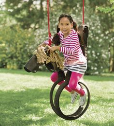 HearthSong #Fungifts #Gifts  Horse Tire Swing -Fun Gifts via- http://www.AmericasMall.com/hearthsong-gifts