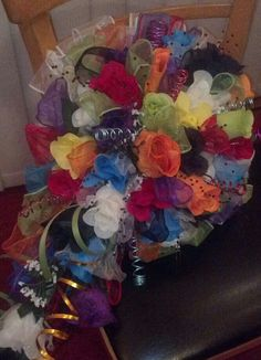 CoLoRBuRST Bridal BLiNG wedding bouquet.... $98.95....The Sugar Shack General Store...Edgar, Nebraska