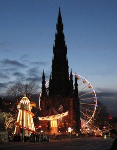 The Scott monument, Edinburgh, Scotland