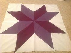 Shades of purple large star block.  Peace, Robert from nancysfabrics.com