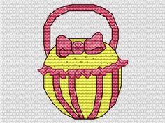 Bow handbag - The World of Cross Stitching. Fab free cross stitch design!