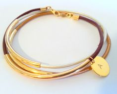 Hey, I found this really awesome Etsy listing at https://www.etsy.com/listing/185553463/personalized-initial-bracelet-with-gold